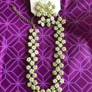 Fashion necklace and earrings